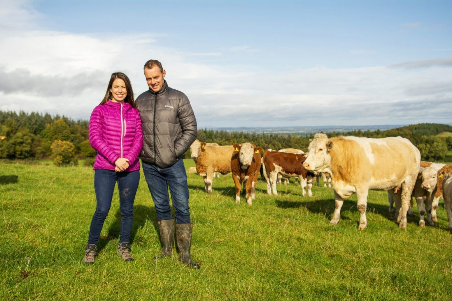 Hannah and John and cows